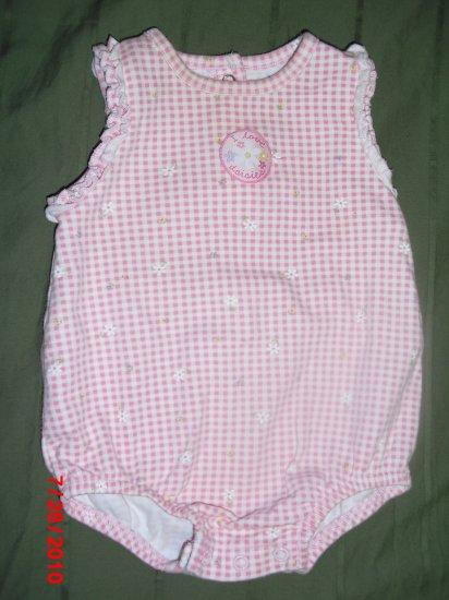 Carter's Pink plaid Daisy Sundress 0-3 month