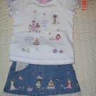 Little girls Tea Time skirt outfit