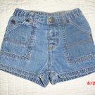 Gap little girl's shorts 6-12 months