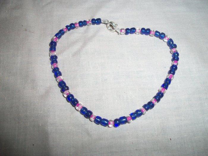 Dark Blue and Pink Bracelet