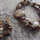 Chrysanthemum Stone Earrings and Bracelet