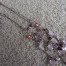 Purple Crystal Bead Necklace and Earrings