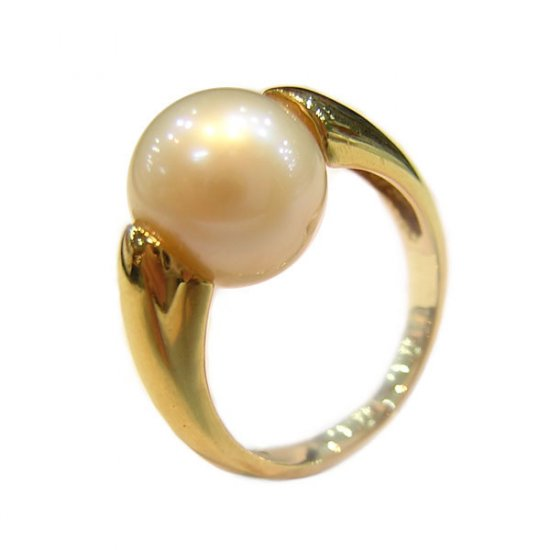 14K Gold 9-10mm White South Sea Pearl Ring SRGW-300910029
