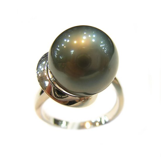 14K Platinum 11-11mm Tahitian South Sea Pearl Ring SRWB-301112032