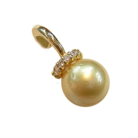 14K Gold 10-11mm Tahitian South Sea Pearl Pendants SPGG-201011004