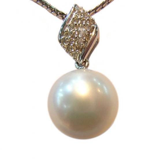 14K Gold 11-12mm Tahitian South Sea Pearl Pendants SPWW-301112043