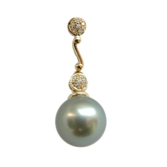 14K Gold 11-12mm Tahitian South Sea Pearl Pendants SPGB-301112018