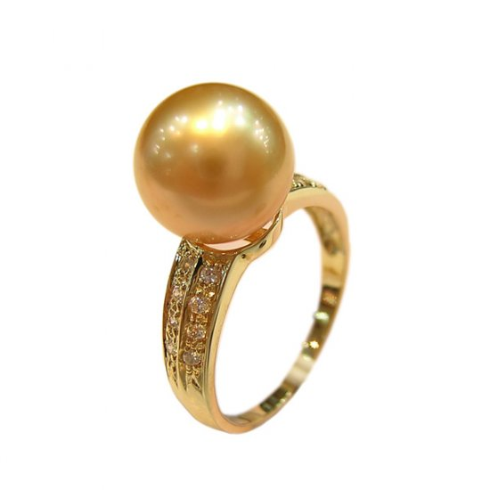 14K Gold 10-11mm South Sea Pearl Ring SRGG-301011004z