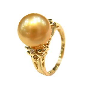 14K Gold 10-11mm South Sea Pearl Ring SRGG-301011008z