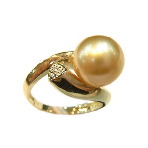 14K Gold 10-11mm South Sea Pearl Ring SRGG-301011010z