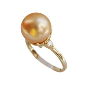 14K Gold 10-11mm South Sea Pearl Ring SRGG-301011013z