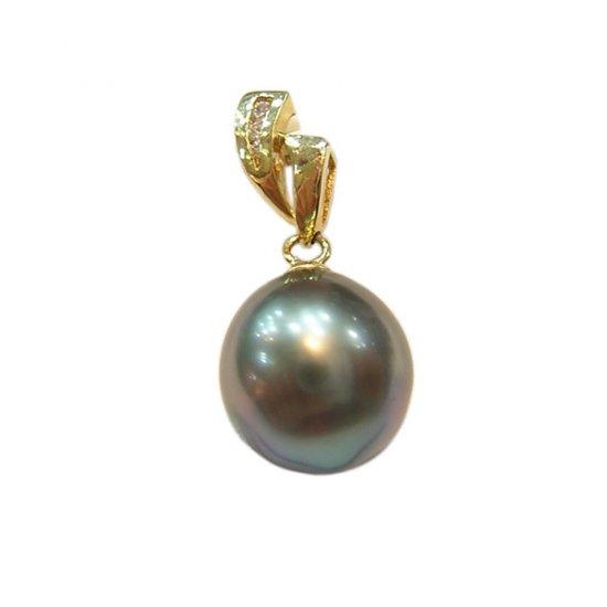 14K Gold 11-12mm Tahitian South Sea Pearl Pendants SPGB-301112017