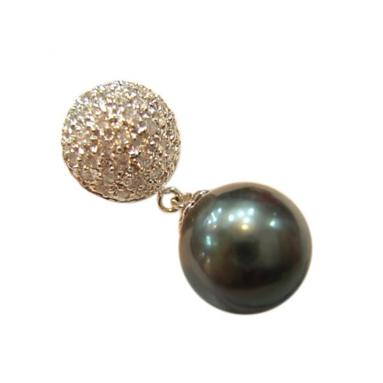 14K Platinum 10-11mm Tahitian South Sea Pearl Pendants SPWB-301011015z