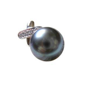 14K Platinum 11-12mm Tahitian South Sea Pearl Pendants SPWB-301112028