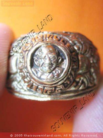 0212-OLD THAI MONK MAGIC BUDDHA AMULET RING LP NGERN