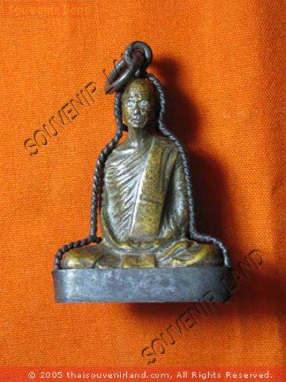 0312-THAI BUDDHIST AMULET FIGURE LP DERM ANCIENT REAL