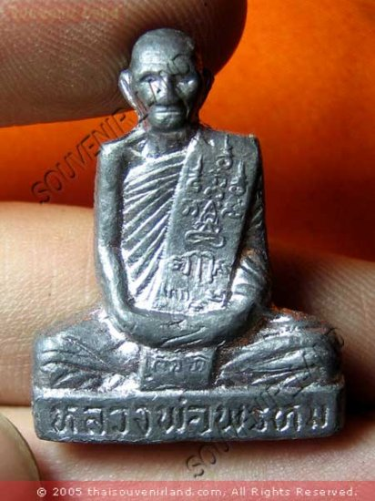 M492-OLD AMULET THAI BUDDHA TALISMAN PHA KRING LP PROM