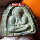 0004-THAI BUDDHA AMULET PHA PIT PID TAH LP KAWE 3 FACE