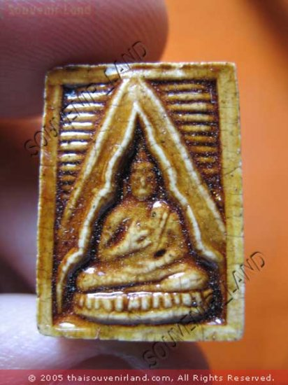 1043-THAI BUDDHA AMULET TABLET SOMDEJ LP SOD WAT PAKNAM