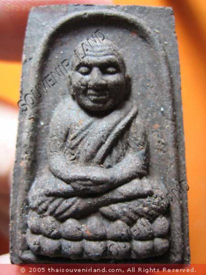 1007-THAI BUDDHA AMULET TABLET SOMDEJ LP TUAD ANTIQUE