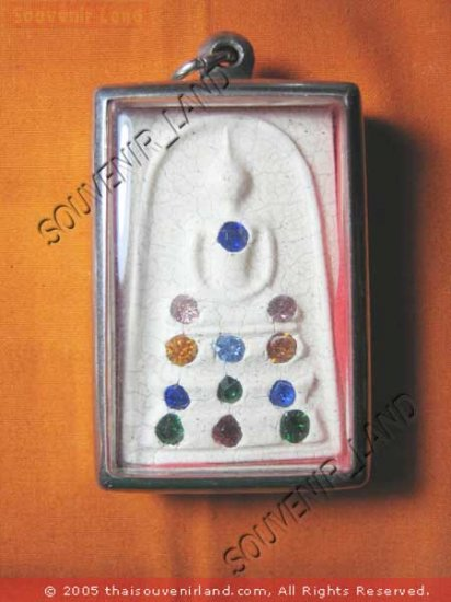 0936-THAI BUDDHA AMULET SOMDEJ GEMS CRYSTAL WAT RAKANG