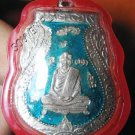 0819-THAI BUDDHA AMULET PENDENT WATERPROOF LP KLAN BLUE