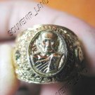 0794-VINTAGE OLD RARE THAI BUDDHA AMULET RING LP TUAD