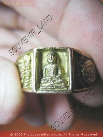 0793-VINTAGE OLD RARE THAI BUDDHA AMULET RING LP NGERN