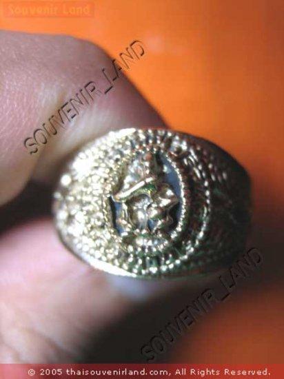0792-VINTAGE OLD RARE THAI BUDDHA AMULET RING LP KOON