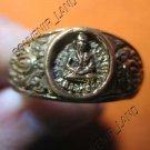 0789-VINTAGE OLD RARE THAI BUDDHA AMULET RING LP NGERN