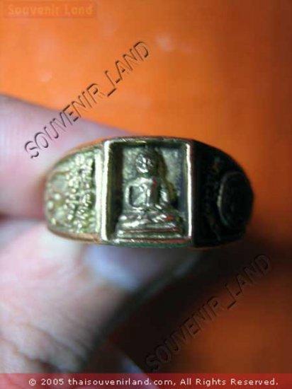 0787-VINTAGE OLD RARE THAI BUDDHA AMULET RING LP NGERN