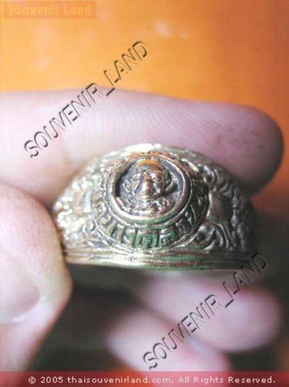 0785-VINTAGE OLD RARE THAI BUDDHA AMULET RING LP NGERN