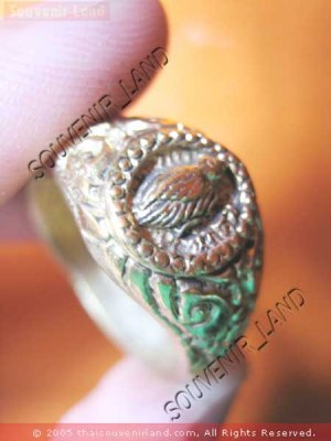 0773-RARE THAI BUDDHA AMULET RING KUBA KRITSANA SALIKA