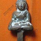 0614-OLD THAI BUDDHA AMULET FIGURE CHEANG-SAEN ART 19TH