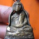 0597-OLD THAI BUDDHIST AMULET FIGURE MONK LP KLAY RARE