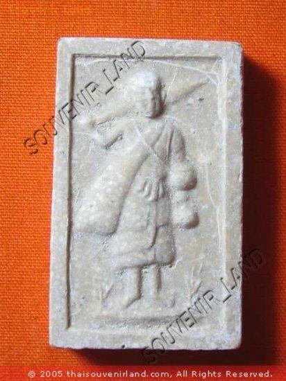 0476-VINTAGE OLD THAI BUDDHA AMULET SOMDEJ  LP THOE
