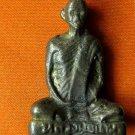M211-VINTAGE REAL THAI BUDDHA AMULET STATUE LP DERM OLD