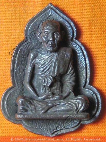 0178-REAL OLD THAI BUDDHA AMULET BUDDHIST MONK LP NOO