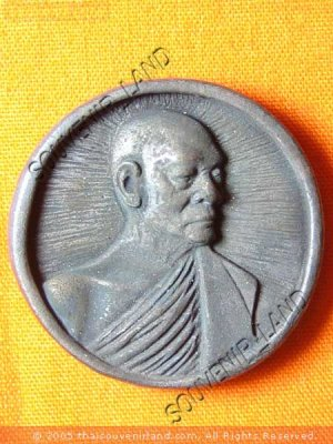 0164-REAL OLD THAI BUDDHA AMULET BUDDHIST MONK LP PAIR