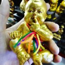 8408-BOY SPIRIT GUMAN THONG AJHAN KOM AMULET THAI CATCH MONEY FAST RICH REAL