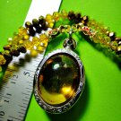 0205-REAL NATURAL GEM STONE DEEP RIVER NAGA EYE THAI AMULET YELLOW GAMBLING HOLY