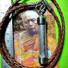 9266-REAL THAI AMULET INGOT TAKUD STICK LUCKY PLAI GUMAN POWEDER LP SAKON 2007