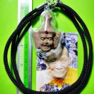 9210-AUTHENTIC REAL THAI AMULET LERSRI HEAD MASTER 1 TAKUD BROWN COLOR LP KALONG