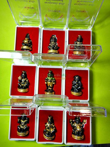 REAL THAI AMULET GUMAN BOY BABY SPRIT RICH LUCKY BONE LP NAEN DOLL BLACK GOLD