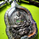 2408-THAI REAL AMULET BRONZE MEDAL LP PERN AMAZING RIDER TIGER LUCKY RICH 2008