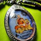 2403-THAI REAL AMULET LOCKET PENDANT LP PERN RIDER TIGER PROTECTION LIFE LOVE