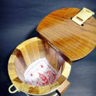9299-REAL THAI AMULET HAND MADE HOLY MONEY POT SAVING CASH WOODEN BOX LP PERN SS