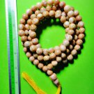 6846-REAL THAI AMULET NECKLACE SACRED BUDDHA RELIC STONE 108 BEAD YELLOW SMALL