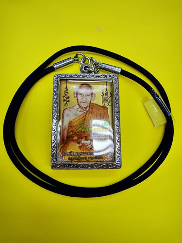 9815-PHOTO LOCKET GOLD SCREEN AMULET THAI LUCKY CHARM REAL LP NONG 9TAKUD LERSRI