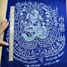9216-HOLY FLAG CLOTH LP KALONG AMULET THAI REAL VICTORY WIN LUCKY WEALT MONEY BL
